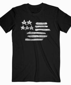 Graphic America Flag T Shirt