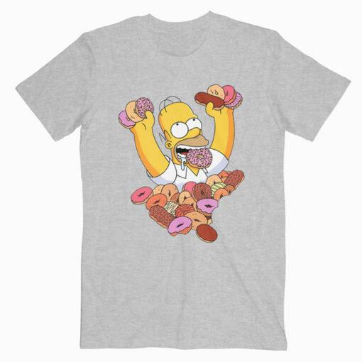 Homer Simpson Donut T Shirt
