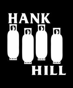 King Of The Hill Black Flag Parody T Shirt