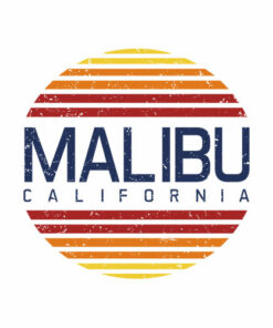 Malibu California Retro Vintage T Shirt