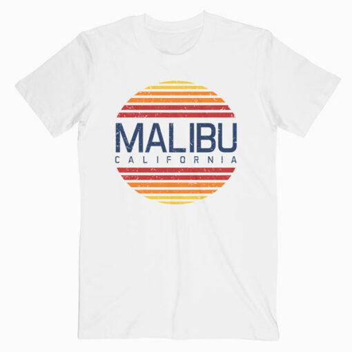 Malibu California Retro Vintage T Shirt