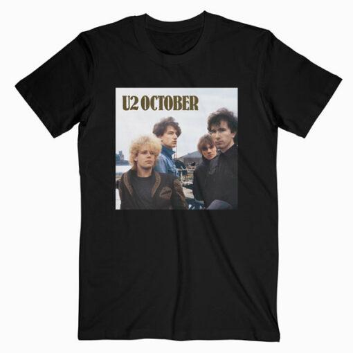 October U2 Band T Shirt bl