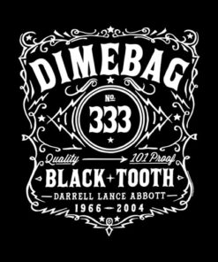 Pantera Jack Daniel Whisky Label Dimebag Darrel Band T Shirt