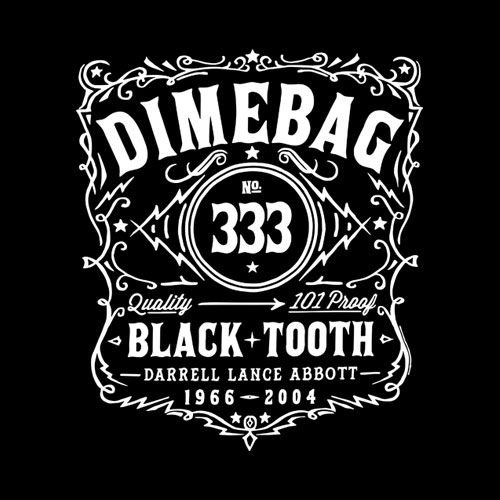 Pantera Jack Daniel Whisky Label Dimebag Darrel Band T Shirt