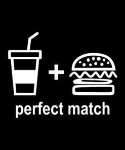 Perfect Match Drink Burger T Shirt