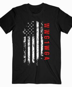 Q Anon WWG1WGA US Flag Shirt