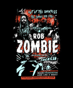 Rob Zombie T Shirt Zombie Calls Band T Shirt