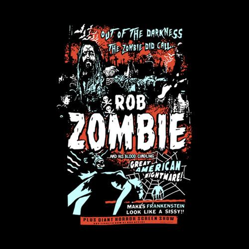 Rob Zombie T Shirt Zombie Calls Band T Shirt