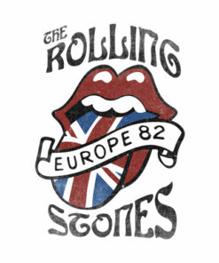 Tour Europe 82 Rolling Stones Band T Shirt