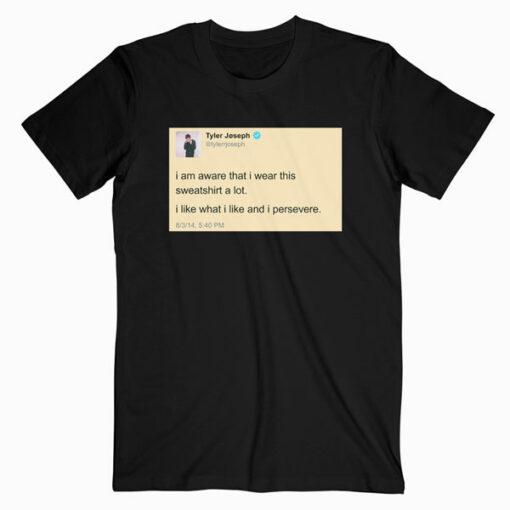 Tyler Joseph Tweet Twenty One Pilots Band T Shirt