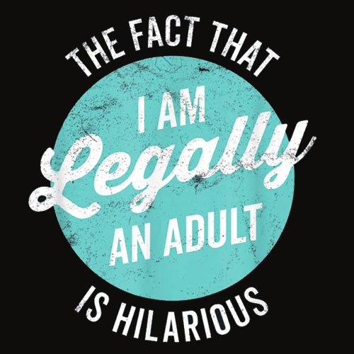 18th Birthday Gift I'm Legally An Adult Is Hilarious Funny T Shirt