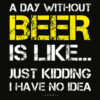 A Day Without Beer Funny Beer Lover Gift Tee Shirts