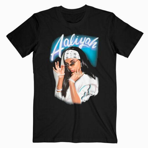 Aaliyah Airbrush Bandana Photo T Shirt