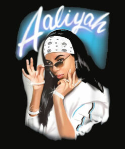 Aaliyah Airbrush Bandana Photo T Shirt
