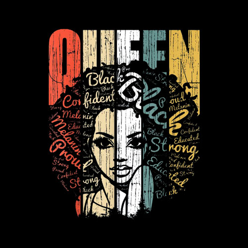 African American Shirt for Educated Strong Black Woman Queen T-Shirts