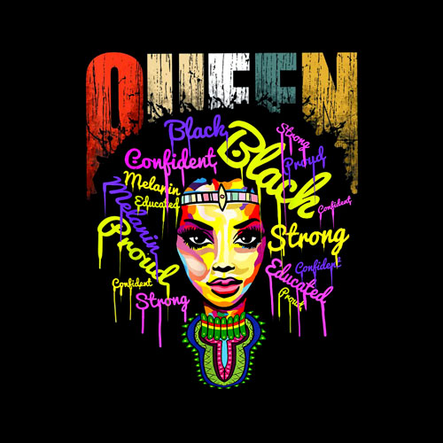 African Queen For Women Educated Black Girl Magic T-Shirt
