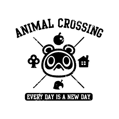 Animal Crossing Everyday Is A New Day Logo Graphic T-Shirt