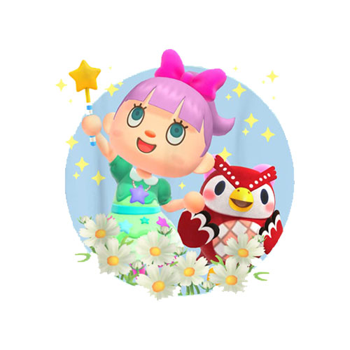 Animal Crossing New Horizons Villager And Celeste Portrait T-Shirt