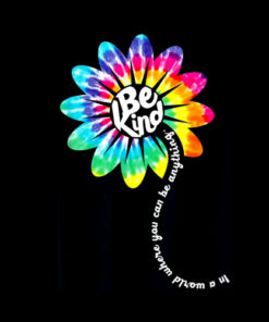Be Kind Groovy Tie Dye Flower Power Gift Anti Bullying T-Shirt