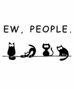 Black cat shirt funny womens ew people meowy cat lovers T Shirt