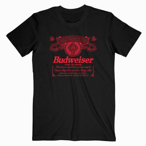 Budweiser Can Label T-Shirt