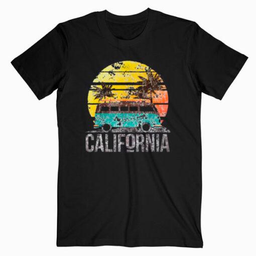 California Retro Surf Vintage Van Surfer Surfing T Shirt