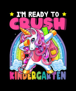 Crush Kindergarten Dabbing Unicorn Back to School Girls Gift T-Shirt
