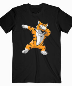 Dabbing Tiger Dab Tiger Safari Funny Tiger Animal T-Shirt