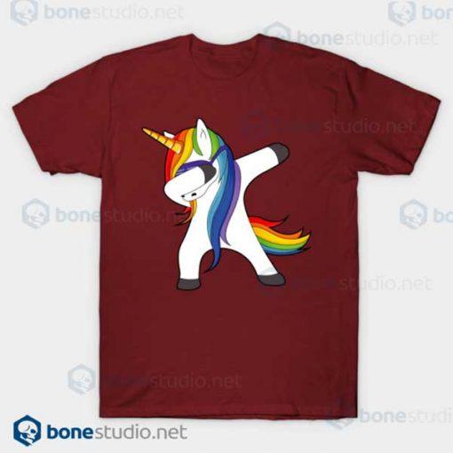 Dabbing Unicorn T Shirt Unicorn Dab Maroon T Shirt