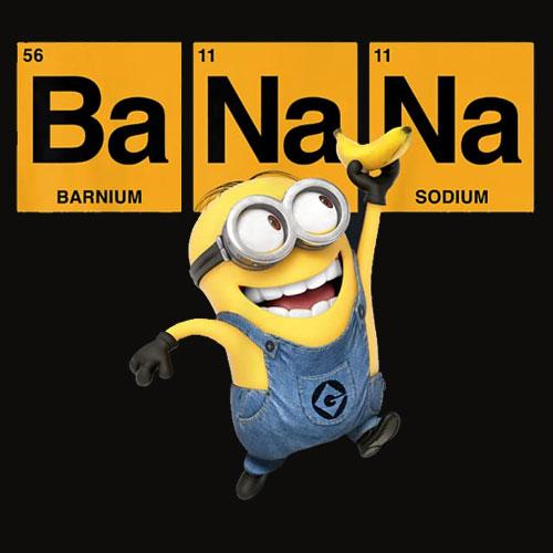 Despicable Me Minions Banana Elemental Square Happy Portrait T Shirt