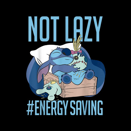 Disney Lilo Stitch Not Lazy Energy Saving T Shirt dp