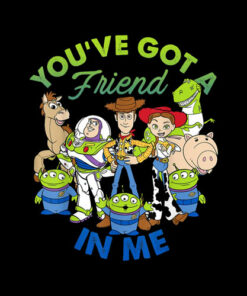 Disney Pixar Toy Story Cartoon Group Shot Graphic T-Shirt