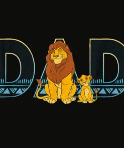 Disney The Lion King Simba and Mufasa Dad T Shirt