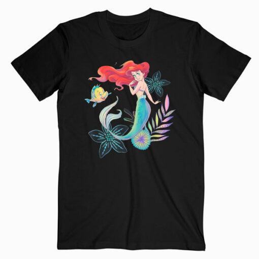 Disney The Little Mermaid Ariel and Flounder Sea T Shirt