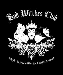 Disney Villains Bad Witches Club Group Shot Graphic T-Shirt
