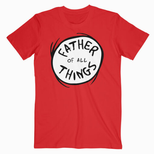 Dr. Seuss Father of all Things Emblem RED T-shirt