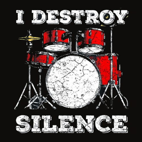 Drum Kit T Shirt Percussionist Drummer Quote Apparel