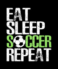 Eat Sleep Soccer Repeat Cool Sport Player Gift TShirt