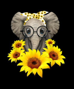 Elephant Sunflower Cute Elephant Love Sunflower T Shirt