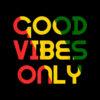 Good Vibes Only Rasta Reggae Roots Clothing Flag T-Shirt