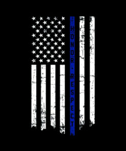 Honor & Respect Police Officer Thin Blue Line Flag T-shirt