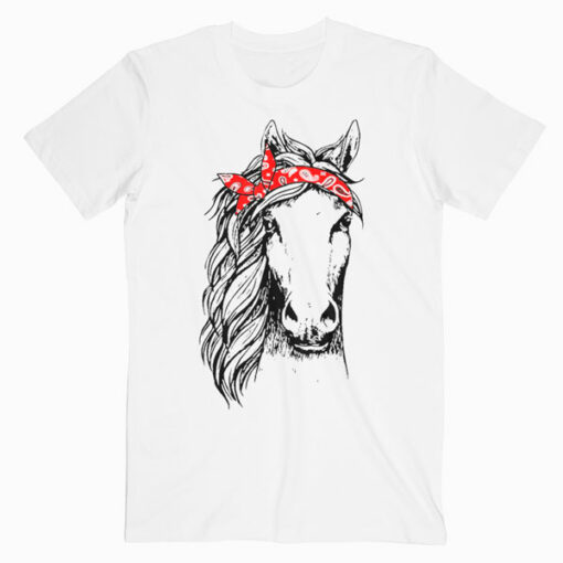 Horse Bandana for Horseback Riding Horse Lover T-Shirt