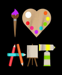 I Love Art Fun Colorrful Future Artist And Crafts T-Shirt