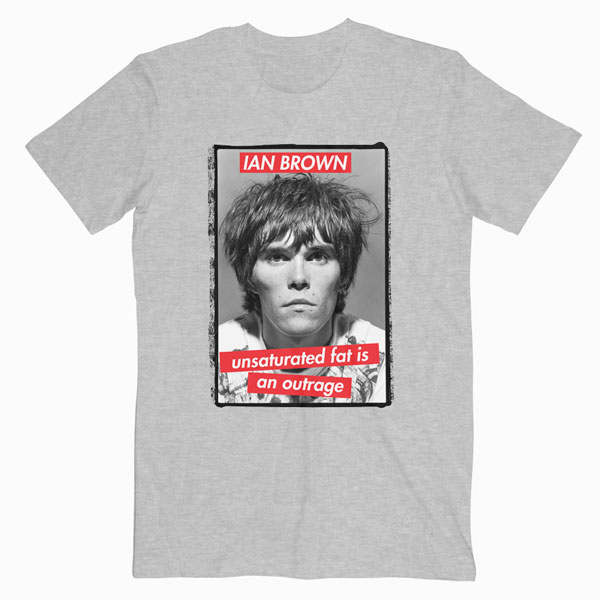 Ian Brown The Stone Roses Adored Band Guitar Music T-Shirt