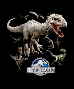 Jurassic World Indominus Rex Raptor Run Graphic T-Shirt