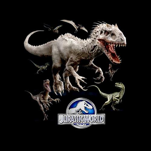 Jurassic World Indominus Rex Raptor Run Graphic T-Shirt