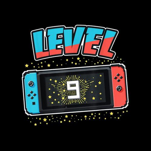 Level 9 Birthday Shirt Boy 9 Years Old Video Games Gift T-Shirt
