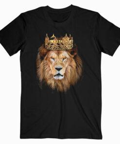 Lion Head Golden Crown Art Canvas King T shirt