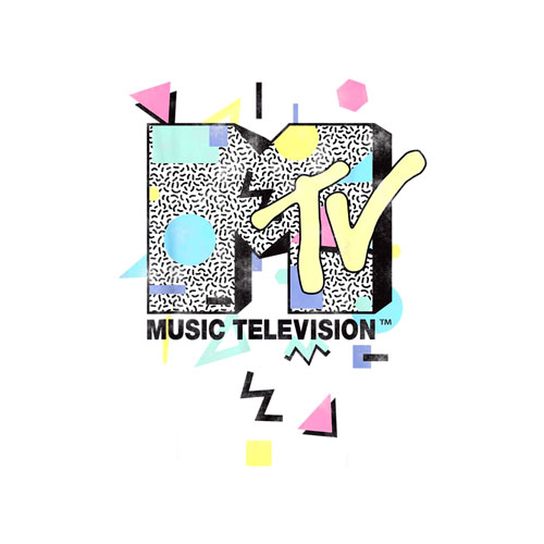 MTV Retro Shape Design Logo Graphic T-Shirt