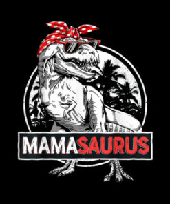 Mamasaurus T rex Dinosaur Funny Mama Saurus Family Matching T-Shirt